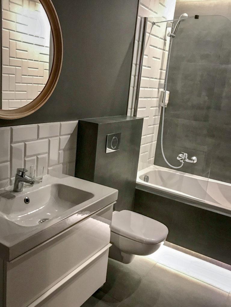 Łazienka w pokoju o podwyższonym standardzie - Villa Verdi Łeba