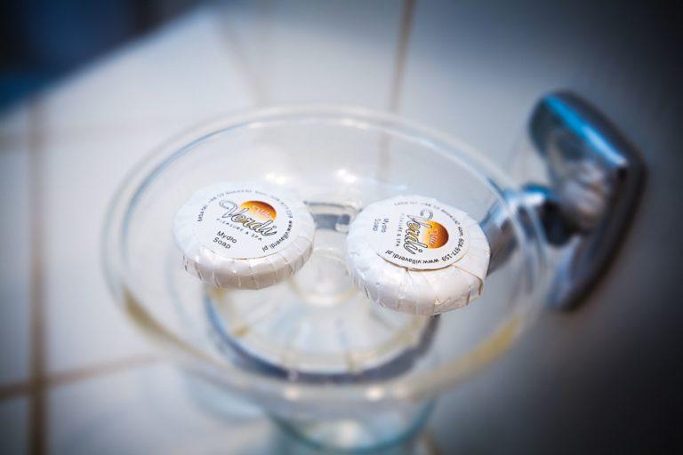 Małe mydełka dla gości hotelu Villa Verdi SPA Łeba