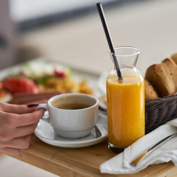 Śniadanie wliczone w cenę noclegu w Villa Verdi Łeba